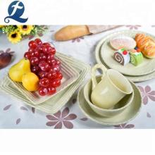 Venta caliente de vajilla de restaurante personalizado juego de cena en casa de cerámica