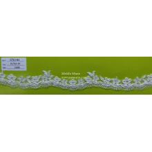 Stickerei-Spitze-Gewebe-weiße Spitze-Ordnung mit Blume CTC-193
