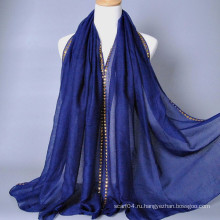 Шарф с золотым блеском из мусульманского хиджаба