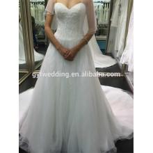 China Alibaba Real Bridal Sweetheart Gowns Bodice Full handmade cristal Beaded Shinning Wedding Dresses 2015 in Dubai A154