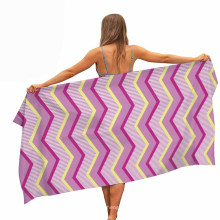 100% Polyester Quick Fast Dry Customized Digital Printed Stripe Absorbent Beach Towel in Stock
