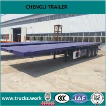 40 pies contenedor semirremolque transporte plana semirremolque