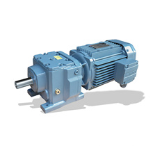 REDSUN R67 Series  helical speed reducers gearbox with 0.18~7.5KW AC motor