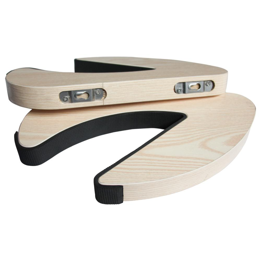 C Shape Trä Surfboard Wall Rack