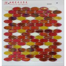 Hot Melt Glass Mosaic Ellipse
