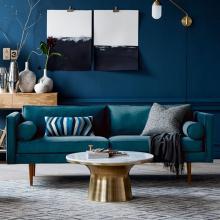 Design moderno popular sala sofá de tecido