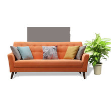 Orange Color Simple Design Fabric Sofa, Modern Sofa (M619)
