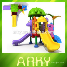 2015 hot selling kids playground outdoor park plastic slide kids play structure