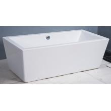 Neue Art-einfache Rechteck-Form-Acryl freistehende Badewannen
