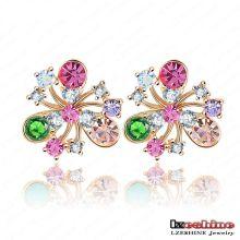 Plus récent style 18k plaqué or bijoux boucles d'oreille Stud Stud (ER0012-C)