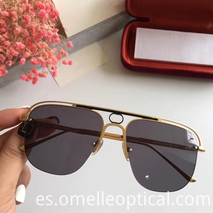 Semi Rimless Square Sunglasses