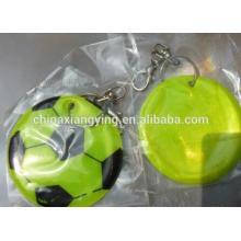 Промоушн Светоотражающая цепочка ключей, Мягкая цепочка ключей из ПВХ Custom,, Футбольная подвеска Chain
