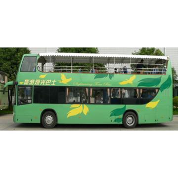 Bus touristique à impériale à toit ouvert