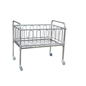 Big Size Stainless Steel Baby Bed Removable With Wheel