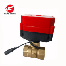 CWX-60P quickly install DN25 reduced bore brass Female-female BSP AC220V CR06 With Visual Window 2 way Electric Ball Valve
