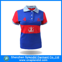 Guangdong Plus Size Frauen Kleidung Stickerei Designs Polo Shirt