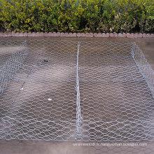 Boîte hexagonale galvanisée par immersion chaude de Gabion de fil