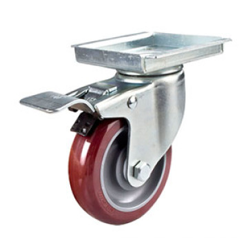 5inches Middle Duty Swivel Polyurethane Caster with Total Brake