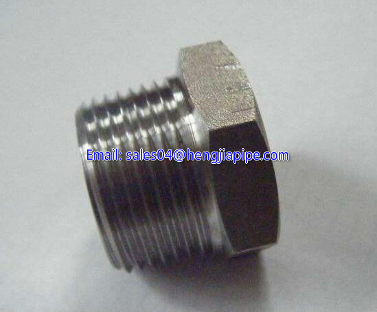 threaded steel plug
