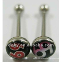 fashion stainless steel barbell free sample tongue rings