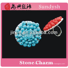 stylish artificial fancy big simple design girls long lucky stone four index new design ladies full new design finger ring