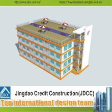 Faible coût et construction rapide d'un hôtel préfabriqué