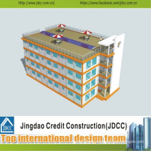 Low Cost and Fast Construction of Prefabricated Hotel