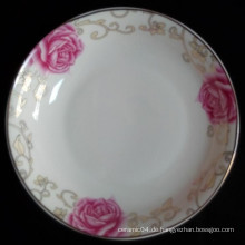 billige Porzellanplatte, chinesisches großes Teller, Suppenteller