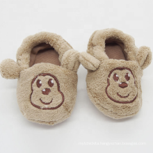 Monkey embroidery animal slipper toddler boys baby shoes home