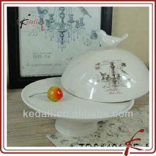 """8 """"Keramik Kuchenplatte mit Deckel"""