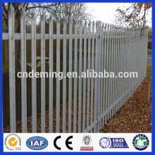 DM powder coated anping factory price steel palisade fence, low price steel palisade