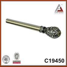 Finials calientes de la barra de la cortina de la venta C19450, accesorios dobles de la barra de la cortina del carril del doble