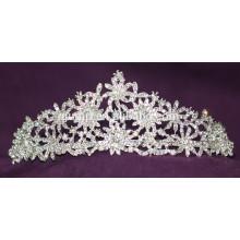 Красота Свадебная Tiara Custom Высокое качество блестящей Crystal Bridal короны