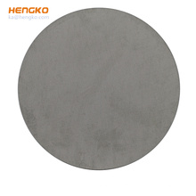 HENGKO Hydraulic Water Filter Plate Sintered Microporous Media Metal Stainless Steel Customized Material Different Size 316 316L