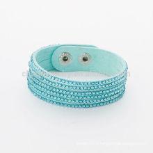 Bouton réglable à la mode Bracelet en strass en cristal mixte BCR-022-1