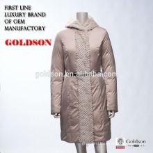 Wowen 's coat 2016 China OEM 100% polyester sheep fur women down coat