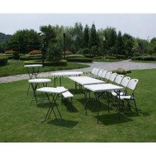 Mesa dobrável Retângulo De Plástico Mesa Dobrável Japonês Para A Festa Ao Ar Livre Mesa De Campismo De Alumínio