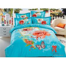 Papillon et Flower Blue Design 100% coton Literie Fabricants de draps en Chine