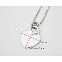 Shiny high polish finish silver heart charm necklaces for women