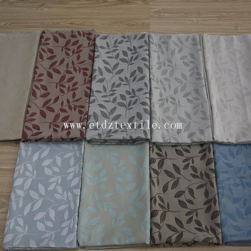 New Leaf Pattern Wrinkle Touching Fabric for Window Curtain WZQ187
