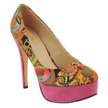 Las nuevas ventas africanas imprimieron el vestido de las señoras del alto talón de las señoras calzan los zapatos (HCY02-1396-2)