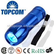 Dry battery powered uv torch 9 led flashlight