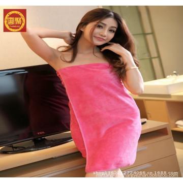 China fábrica 100% microfibra toalha de banho, toalha de banho de praia para a menina do sexo