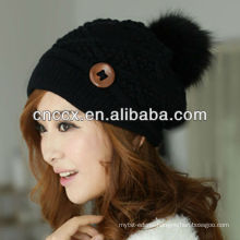 PK17ST324 latest design fashion knitting women beanie