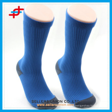 blue thick sport socks compression mens sock custom logo