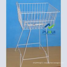 Metal Wire Floor Brochure Basket Holder (PHC316)
