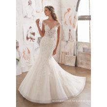 (5509) Ivory Lace Mermaid Bridal Gown Wedding Dresses