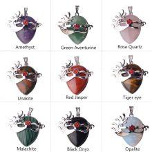 Ожерелье-подвеска из аметистовой маски с драгоценными камнями