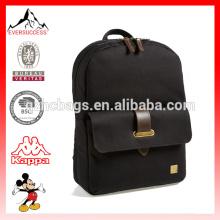 Moda couro-aparado mochila de livro de escola para faculdade de escola (ES-Z333)
