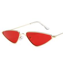 Women Flat Top Triangle Sunglasses Metal Frame Cat Eye Vintage Shades UV400 Sunglasses Gift